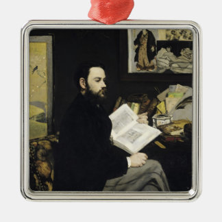 Manet | Porträt von Emile Zola 1868 Silbernes Ornament