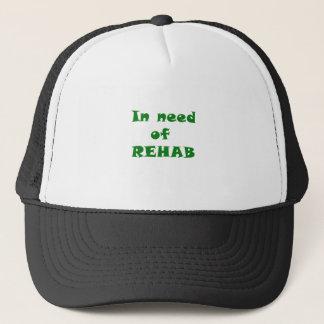 Mangels der Rehabilitation Truckerkappe