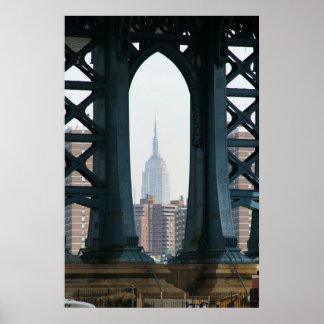 Manhattan-Brücke ESB Poster