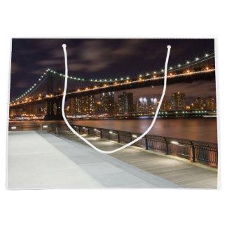 Manhattan-Brücke und NYC Skyline Große Geschenktüte