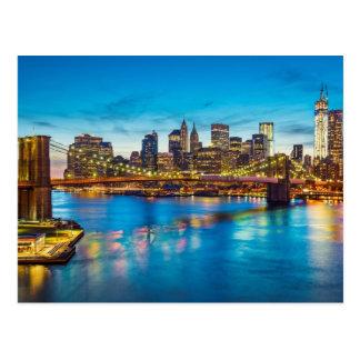 Manhattan-Postkarte Postkarte
