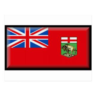 Manitoba-Flagge Postkarte