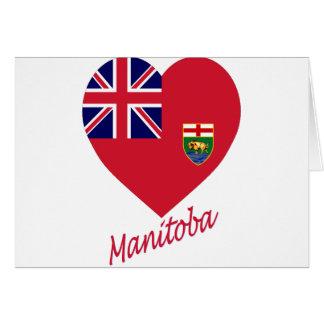Manitoba-Flaggen-Herz mit Namen Karte