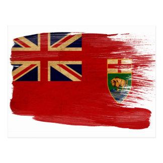 Manitoba-Flaggen-Postkarten Postkarte