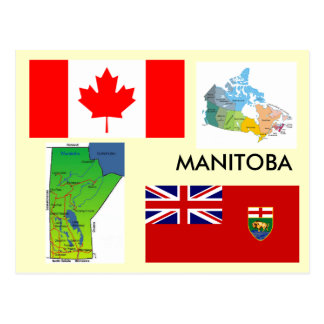 Manitoba, Kanada Postkarte