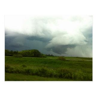 Manitoba-Stürme Postkarte