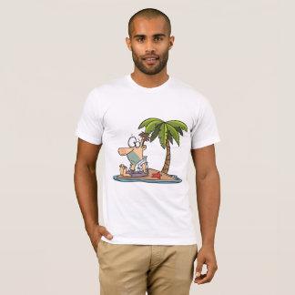 Mann auf einem T - Shirt der verlassenen