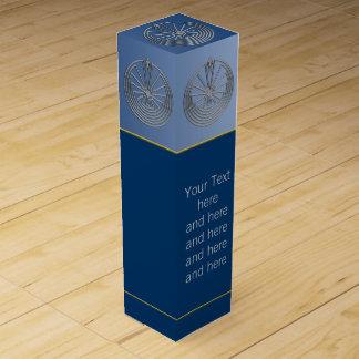 MANN IM LABYRINTH-Silber + Ihr Text Wein-Geschenkverpackung
