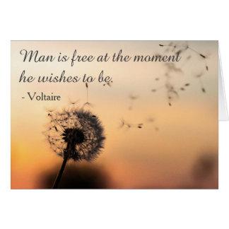Mann ist freies Voltaire Zitat Karte