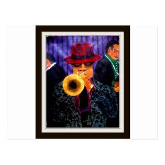 Mann mit dem goldenen Horn Postkarte