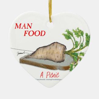Mann-Nahrung Tonys Fernandess - ein Picknick Keramik Herz-Ornament