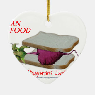 Mann-Nahrung Tonys Fernandess - ploughmans Keramik Herz-Ornament