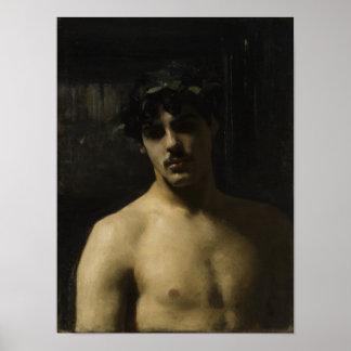 Mann-tragende Lorbeer Poster