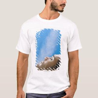 Mann unter Dampfhahn am Wellness-Center T-Shirt
