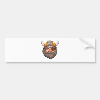 Mann Viking Autoaufkleber
