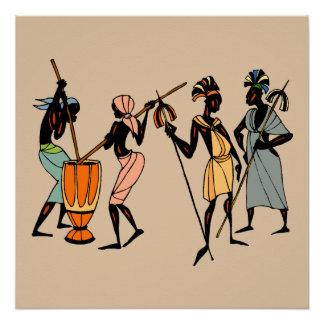 Männer von Kenia Perfektes Poster