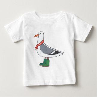 Männliche Möve - Schal und Stiefel Baby T-shirt
