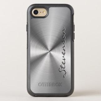 Männlicher metallischer RadialEdelstahl-Blick OtterBox Symmetry iPhone 7 Hülle