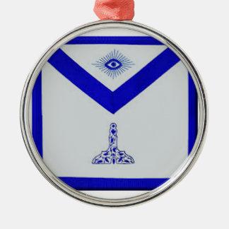 Mansonic älterer Wärter Apron Rundes Silberfarbenes Ornament