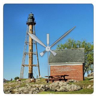 Marblehead Leuchtturm, Massachusetts-Wanduhr Quadratische Wanduhr