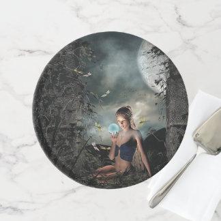 Märchen-mystische Nachtphantasie-feenhafter Tortenplatte