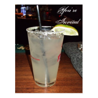 Margarita-Cocktail-Party Einladung Postkarte