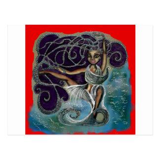 Margarita wickelte im ewigen Wasser ein Postkarte