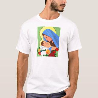 Maria und Baby Jesus T-Shirt