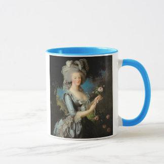 Marie Antoinette mit einer Rose, 1783 Tasse