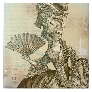 Marie Antoinette Pergament-Kunst-Fliese Große Quadratische Fliese