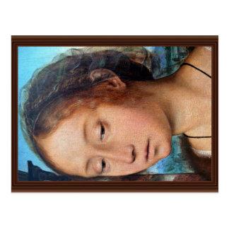 Marie-Madeleine religiöses Bild. Detail, durch Que Postkarten