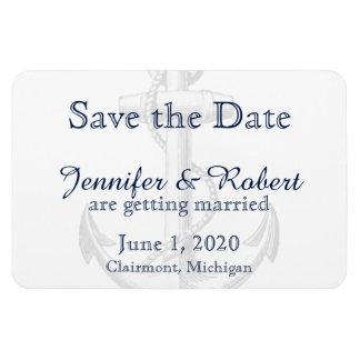 Marine-Anker-Strand-Hochzeit Save the Date Flexible Magnete