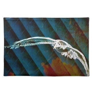 Marine-Blau-abstrakte Ozean-Vögel, die Seemöwe Tischset