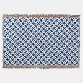 Marine-Blau-Fliese dunkles Kumo Shibori Decke