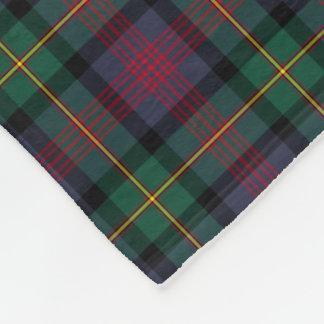 Marine-Blau, Grün und roter Logan-ClanTartan Fleecedecke