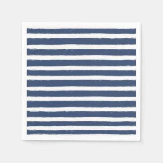 Marine-Blau-und Weiß-Streifen Servietten