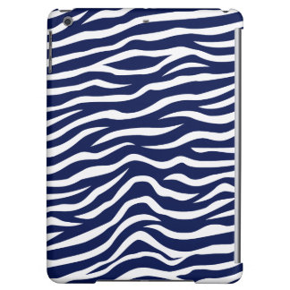 Marine-Blau-und Weiß-Tierdruckzebra-Streifen