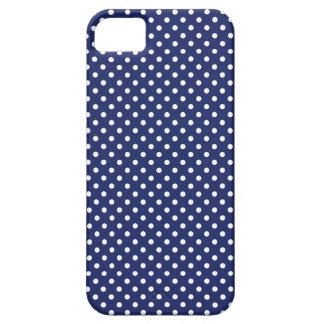 Marine-Blau-und Weiß-Tupfen-Muster iPhone 5 Schutzhülle