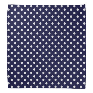 Marine-Blau-und Weiß-Tupfen-Muster Kopftuch