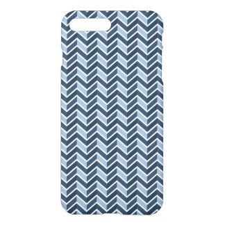 Marine-Blau-Zickzack Muster iPhone 8 Plus/7 Plus Hülle