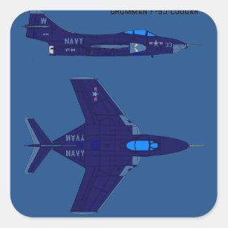 MARINE-Flugzeuge Quadrat-Aufkleber
