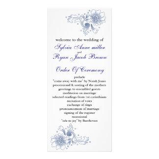 Marine Hochzeitsprogramm Individuelle Werbe Karte