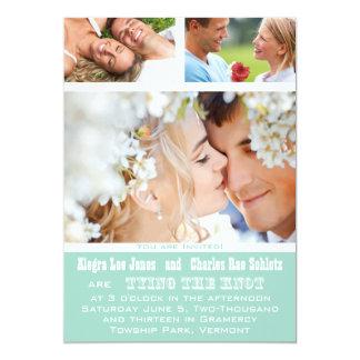 Marine Ihre Foto-Typografie-Hochzeits-Einladungen 12,7 X 17,8 Cm Einladungskarte