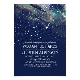 Marine-Nachtgoldschießen-Stern-Verlobungs-Party 12,7 X 17,8 Cm Einladungskarte