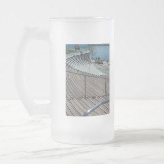 Marine-Pier-Treppe Mattglas Bierglas