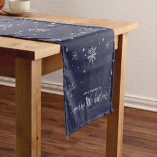 Marine-Schneeflocke-Weihnachten Kurzer Tischläufer
