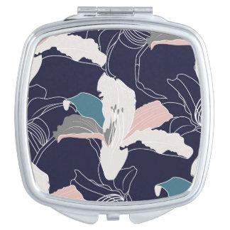 Marine-tropischer kompakter Spiegel Taschenspiegel