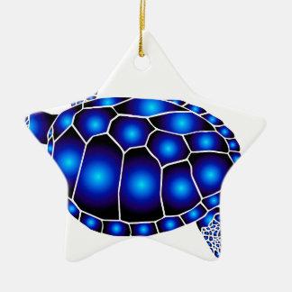 marine turtle meeres schildkröte ocean keramik Stern-Ornament