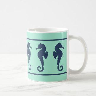 Marine-und Aqua-Seepferde Tasse