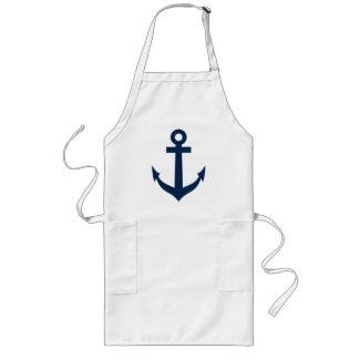 Marineblau-Bootsanker-Schürze für Männer und Lange Schürze